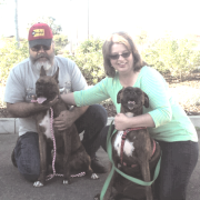 Rocket (left) with his new family