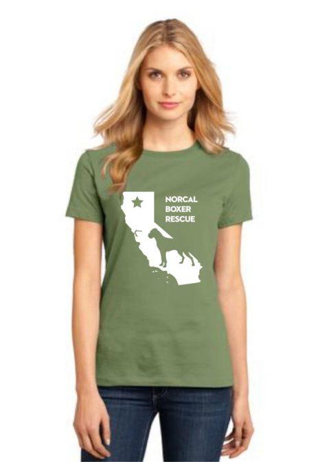 NCBR California Women's T-Shirt in Fresh Fatigue