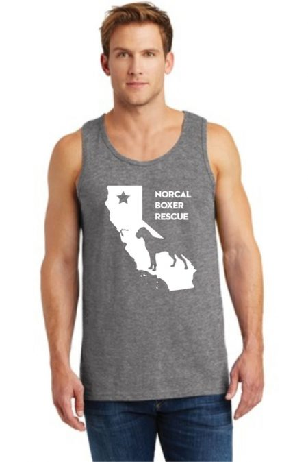 NCBR California Unisex Tank in Graphite Heather