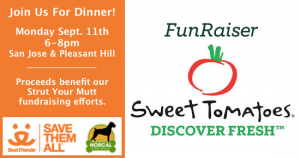 Sweet Tomatoes Fundraiser for Strut Your Mutt 2017
