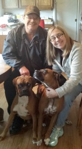 Daisy Mae & Rockie with Jim & Susan S.