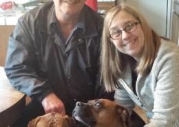 Daisy Mae & Rockie with Jim & Susan S.