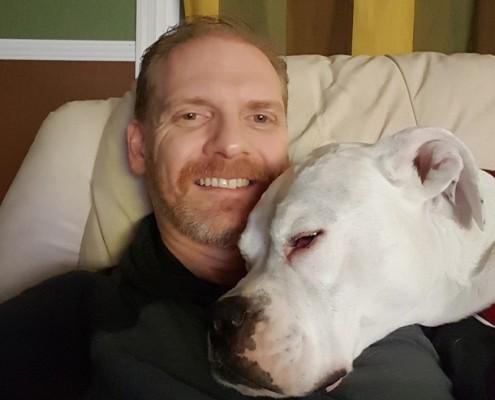 Kane loves being a lap dog